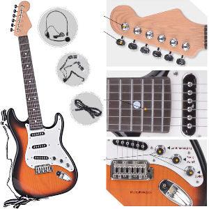 Guitarra eléctrica para niños y niñas, guitarra infantil de 6 cuerdas