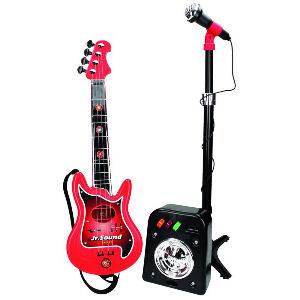 Guitarra para niños con micrófono y altavoz
