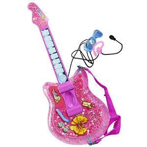 Guitarra rosa para niñas y niños, con micrófono para niños de 3 a 8 años