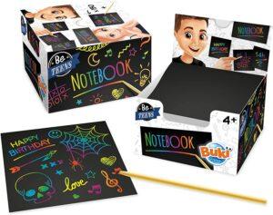 Hojas de rascar para niños, juego creativo con block de notas para dibujar con diferentes colores tan solo rascando