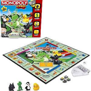 Juego Monopoly junior, Monopoly adaptado para niños con billetes de 1 euro para hacer fáciles las cuentas