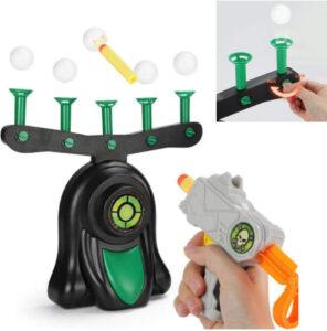 Juego de disparar con bolas flotantes regulables en altura