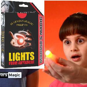 Juego de magia de luz para niños y adultos, para pasarlo de dedo a dedo