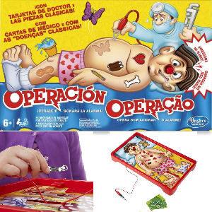 Juego de mesa operación, juego clásico para desafíar a los niños a quitar las piezas sin hacer sonar la alarma
