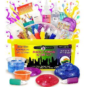 Kit de Slime, fabrica tu slime brillante en casa