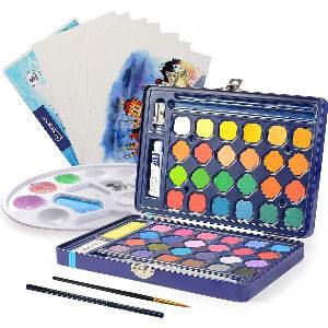 Kit de pintura con acuarelas para niños