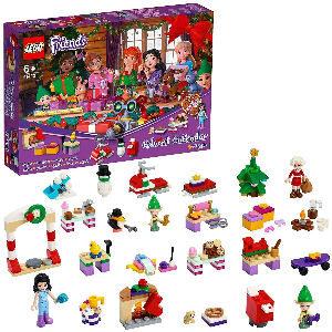 Lego Calendario de adviento de Friends con Emma, Elves y taller de Papá Noel