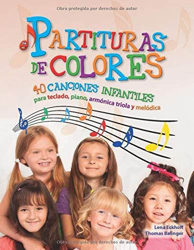 Libro de piano para niños, con 40 partituras de colores
