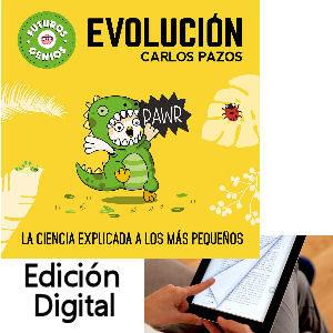 Libro electrónico de la evolución para niños, con ilustraciones de Carlos Pazos