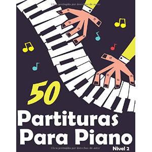 Libros de partituras de piano para niños y principiantes, con 50 partituras