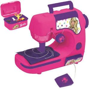 Máquina de coser de Barbie con pedal, luz y accesorios