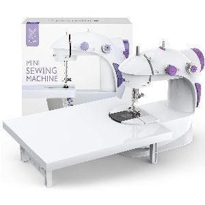 Máquina de coser portátil con mesa de costura