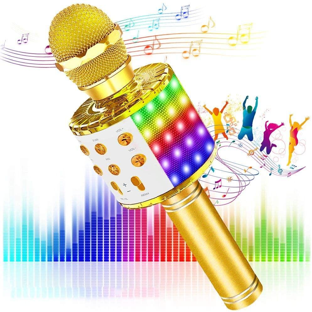 Micrófono inalámbrico con luces LED