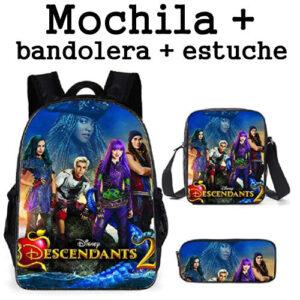 Mochila de los Descendientes 2, set de mochila más bandolera y estuche de los Descendientes
