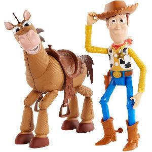 Muñeco Woody con caballo Perdigón de Toy Story 4, pack de aventuras del oeste para niños