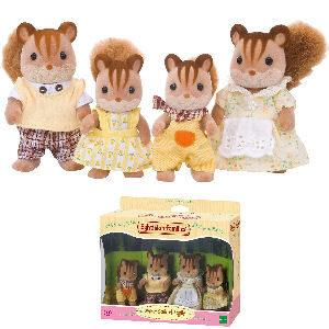 Muñecos Sylvanian familia ardilla de la nuez
