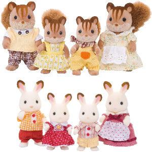 Muñecos Sylvanian familias ardillas y conejos
