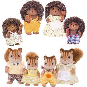 Muñecos Sylvanian familias ardillas y erizos