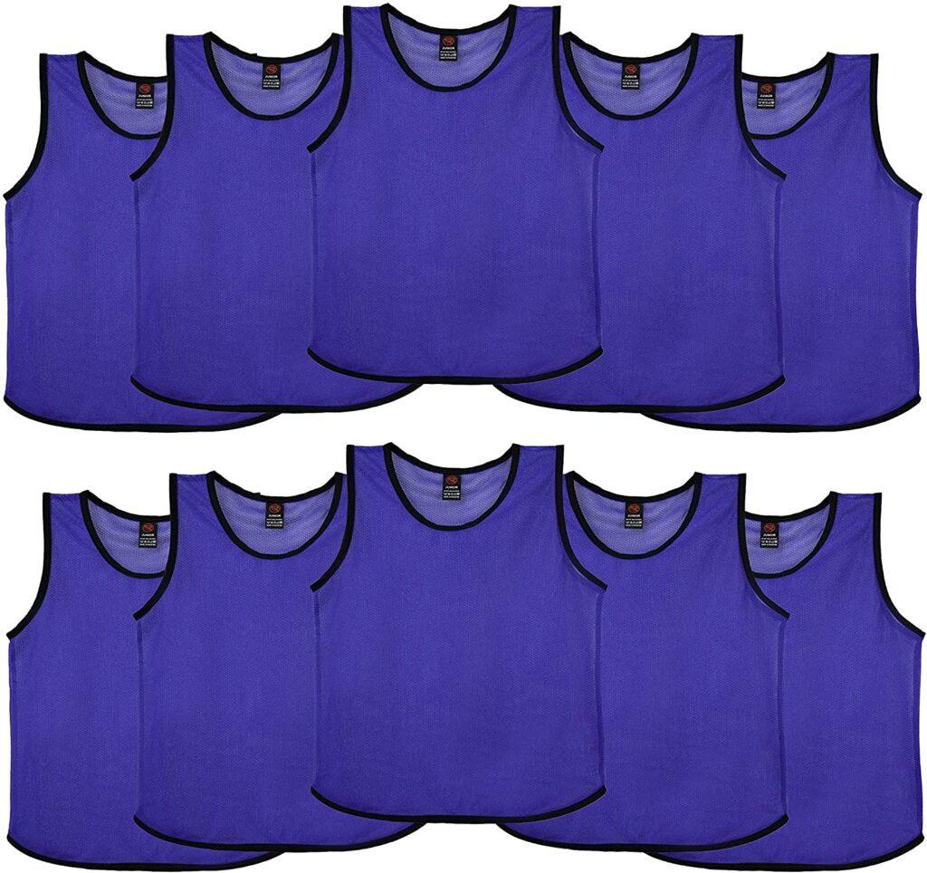 Pack de petos de entrenamiento, set de 10 unidades de petos