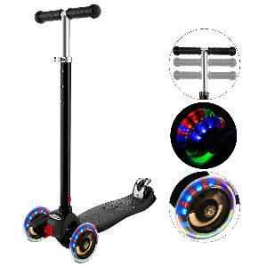 Patinete 3 ruedas con luz para niños