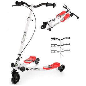 Patinete de 3 ruedas para niños, scooter plegable con freno para niños de 4 a 12 años