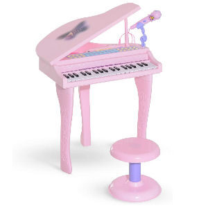 Piano de cola infantil para niñas y niños, teclado digital con 37 teclas