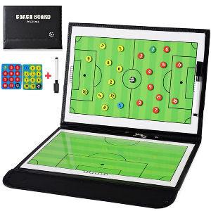 Pizarra de entrenamiento de para entrenadores de fútbol, pizzarra con números para indicar jugadas y posiciones