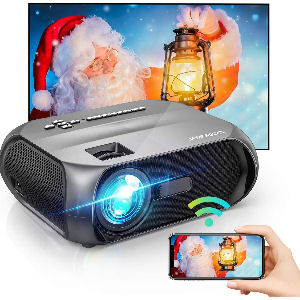 Proyector wifi Full HD 1080p, proyector inalámbrico compatible con Android y Iphone