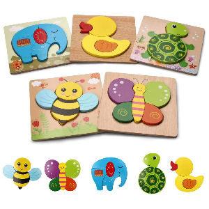 Puzzle rompecabezas educatico para niños, con 5 piezas para niños pequeños