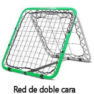 Red de rebote para entrenamientos de fútbol, red de doble cara