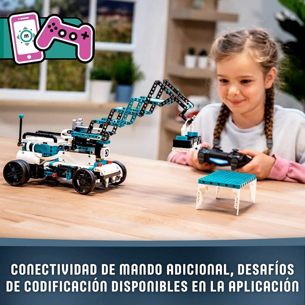 Robot LEGO con aplicacion móvil y mando a distancia