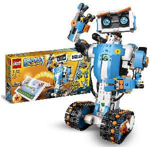 Robot lego para programar y jugar, contruye 5 robots diferentes de colores