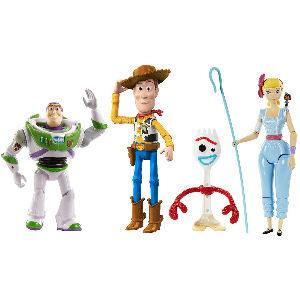 Set de figuras de Toy Story 4, incluye a Woody, Forky, Jessie y Buzz Lightyear