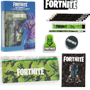 Set de papeleria Fortnite con material escolar