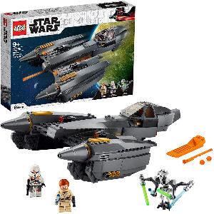 Star Wars LEGO caza estelar con General Grievous, Obi-Wan Kenobi y soldado clon