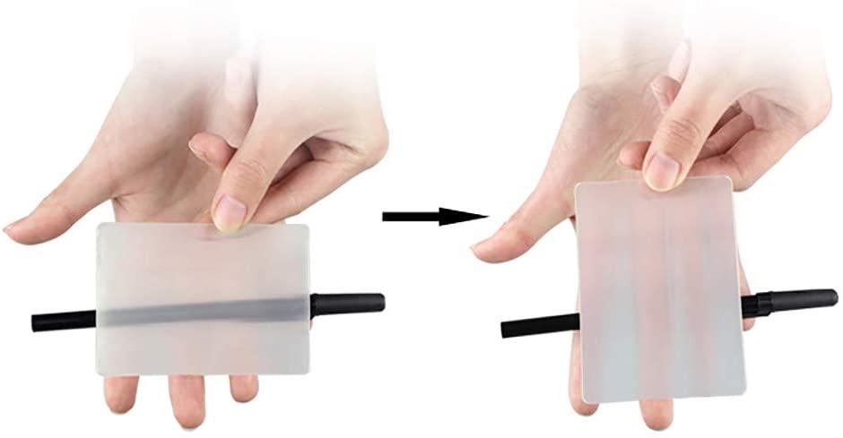 Tarjeta de mago para hacer objetos invisibles, truco de magia tarjeta invisible