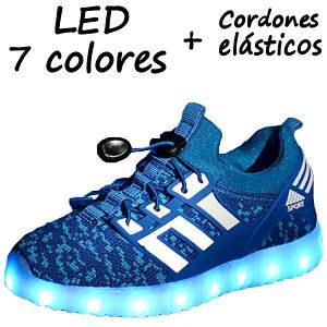 Zapatillas con LEDS y cordones elásticos para niños