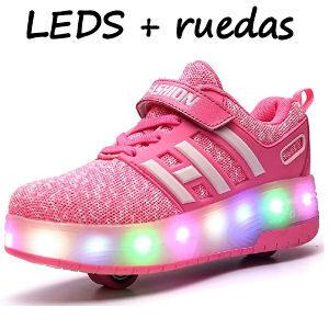 Zapatillas con LEDS y ruedas para patinar para niñas