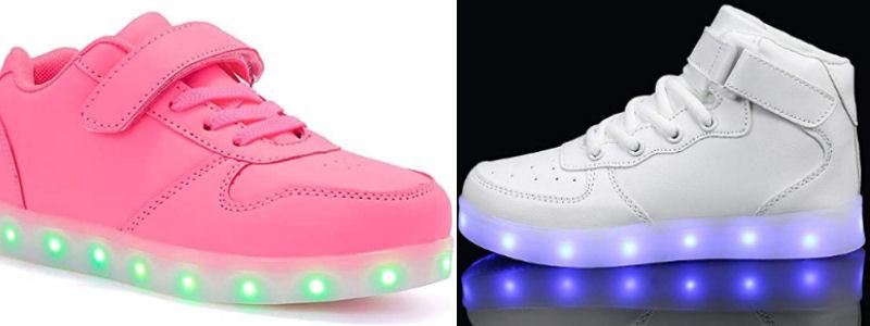 Zapatillas con LEDS y velcro para niños
