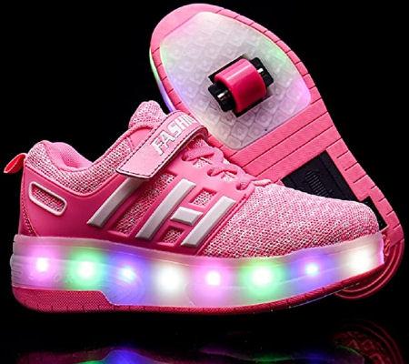 Zapatillas con ruedas y LEDS para niños