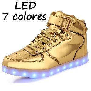 Zapatillas de velcro con LEDS para niños