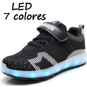 Zapatillas transpirables con LEDS para niños
